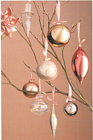 Winter Blossoms Venetian Glass Ornaments Postcard (Image1)