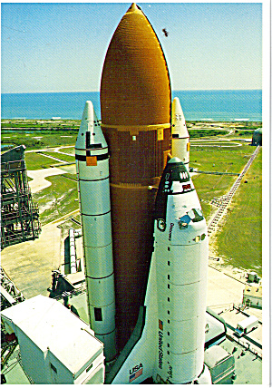 Space Shuttle Discovery Near Pad A Cs7759