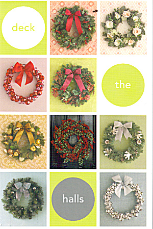 Jingle Bell Wreaths and Holiday Wreaths Postcard cs7765 (Image1)