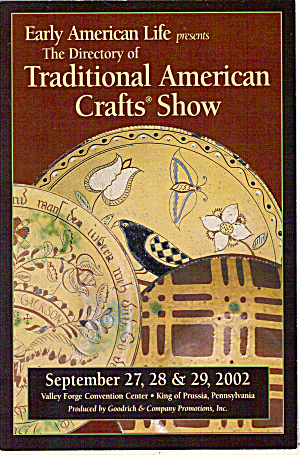 Traditional American Crafts Show Advertising Postcard Cs7783