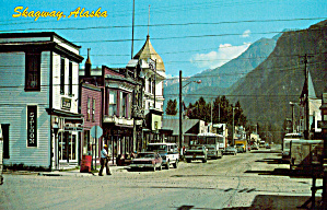 Broadway Business District Skagway Alaska Cs7818