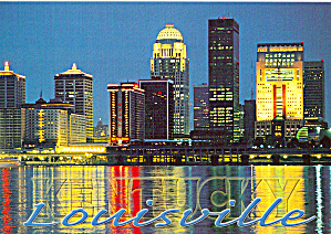 Night View of Louisville, Kentucky  (Image1)