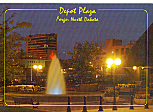 Night Scene Depot Plaza Fargo North Dakota cs7830 (Image1)