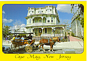Victorian Home and Horse Drawn Carriage at Cape May, New Jersey (Image1)