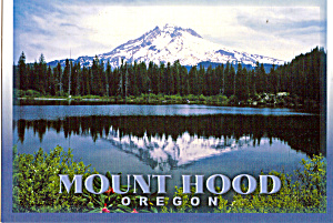 Mount Hood Oregon Postcard Cs7851