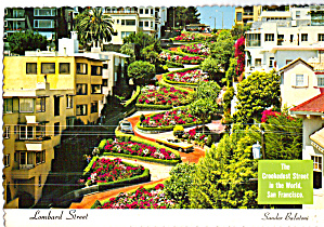 Lombard Street,,San Francisco Crookedest Street in World (Image1)