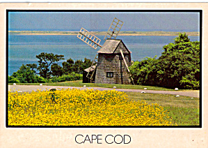 Windmill At Chatham Harbor Cape Cod Massachusetts Cs7881