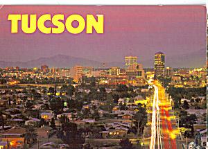 Downtown Tucson Arizona in The Evening cs7911 (Image1)