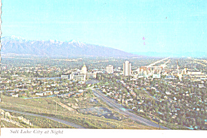 Salt Lake City Utah at Night cs7931 (Image1)