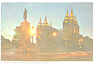 Salt Lake City Utah Pioner Monument Mormon Temple Cs7932