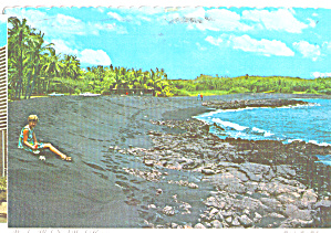 Punalau Black Sand Beach Island Of Hawaii Cs7935