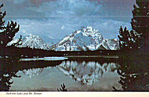 Jackson Lake And Reflection Of Teton Moutains Wy Cs8026