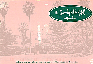 The Beverly Hills Hotel And Bungalows Ca Cs8046