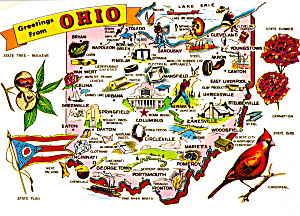 Ohio State Map Cs8077