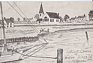 Methodist Church, Tangier Island,, Virginia from a Drawing (Image1)