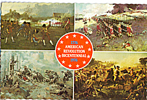 Views of Paintings War on Land of American Bicentennial cs8096 (Image1)