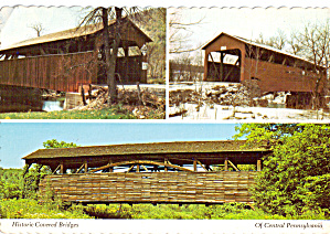 Covered Bridges of Lycoming County PA Postcard cs8113 (Image1)