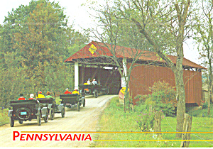 Hayes Covered Bridge, Union County,Pennsylvania, Vintage Autos (Image1)