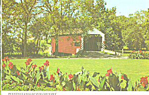 Covered Bridge Amish Dutch Country Pa Postcard Cs8116