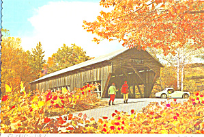 Danville Pa The Old Covered Bridge Postcard Cs8122