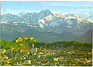 City of Salzburg, Austria with Hoher Goll (Image1)