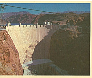 Hoover Dam Near Boulder City Nevada Postcard Cs8194