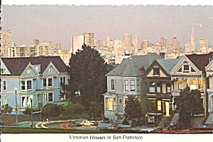 San Francisco California Victorian Houses Cs8229