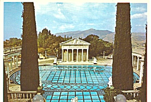 Hearst Castle California Neptune Pool Postcard Cs8299
