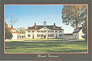 Mount Vernon Virginia West Front Of Mansion Cs8310