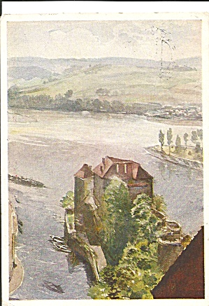 Castle River Passau Germany From Painting F E Weidinger Cs8341