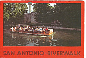 San Antonio Texas River Walk And Boat On The River Cs8365