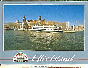 Ellis Island with Circle Line Ferry in NY Harbor cs8398 (Image1)