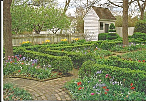 Elkanah Deane House Garden, Colonial Williamsburg (Image1)