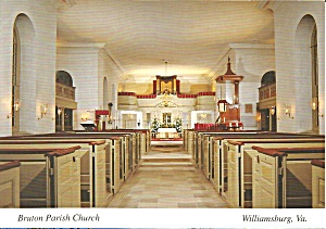Bruton Parish Church, Colonial Williamsburg Interior (Image1)