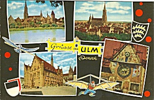 Greetings From Ulm Germany Four Views