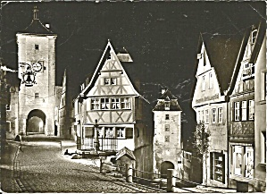 Rothenburg Ob Der Tauber,Germany, Town Gate Clock (Image1)