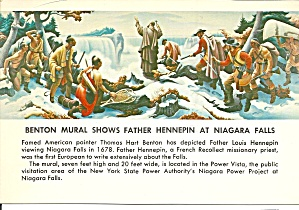 Benton Mural Shows Father Hennepin at Niagara Falls (Image1)