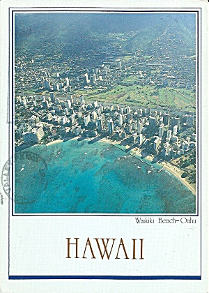 Wakiki Beach Hawaii Aerial View cs8538 (Image1)