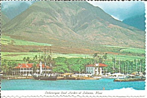 Lahaina Maui Hawaii Picturesque Boat Harbor cs8565 (Image1)