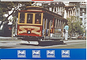 San Francisco Van Ness And Market Cable Car Fox Sports Card Cs8566