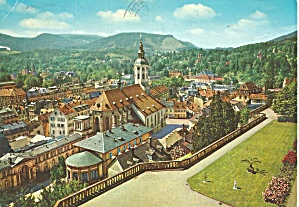Baden Baden Germany View From New Castle Cs8576