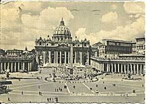 Vatican Italy St Peter S Plaza And Basilica Cs8607