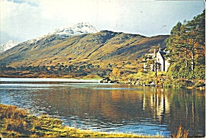 Scotland, Loch Affric With Lodge Affric In Distance