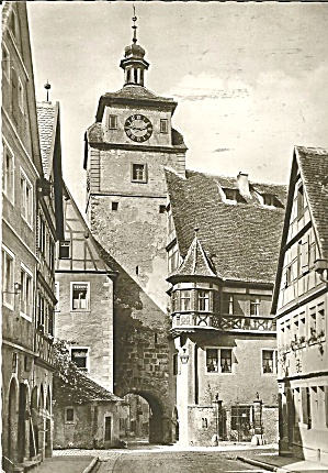 Rothenburg Ab Der Tauber Germany White Tower Cs8673