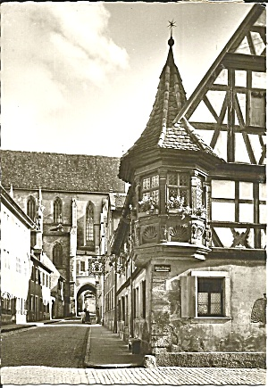 Rothenburg Ob Der Tauber Germany Street Scene Cs8676