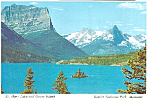 Glacier National Park,Montana,St Mary Lake, Goose Island (Image1)