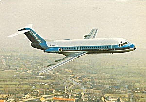 Nlm Cityhopper Fokker F-28-4000 Ph-ext In Flight Cs8896