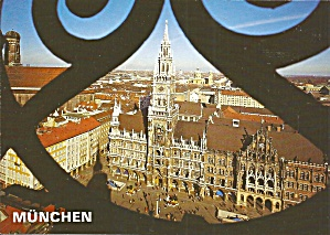 Munich Germany View Of St Mary S Square And City Hall Cs8958