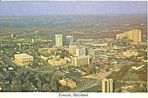 Towson, Maryland Aerial View
