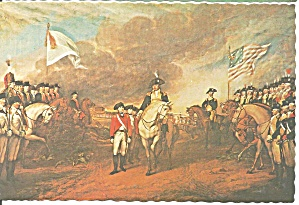 British Surrender at Yorktown Postcard cs9054 (Image1)
